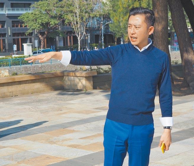 有媒體民調顯示新竹市長林智堅若參選桃園市長,對上國民黨多位人選都大勝至少7%,但他仍不鬆口個人意向。(陳育賢攝)