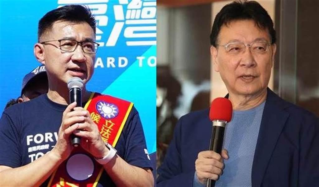 中廣董事長趙少康(右)、國民黨黨主席江啟臣(左)。(圖/本報系資料照)