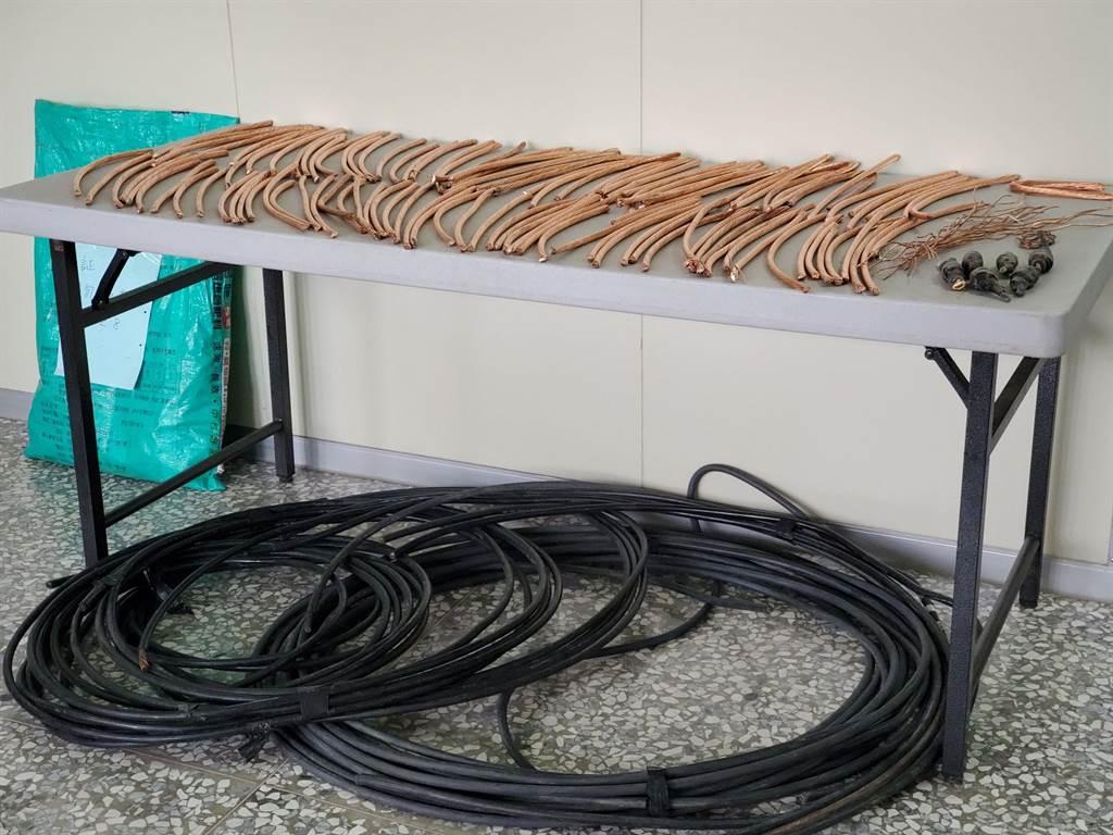 西螺分局23日從追蹤資源回收場可能收受銅線贓物,進而比對出一名轄內的竊嫌。(周麗蘭攝)