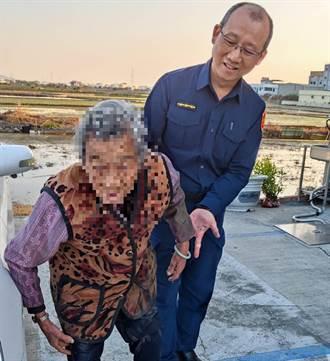90歲老婦跌落水田爬不起來 霧峰警下班路過聞聲救人