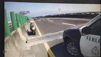 老翁骑车回家误闯88快速道路 逆向行驶吓坏人