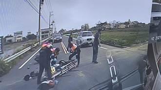 竹县机车擦撞 骑士弹飞对向车道 5秒后遭车撞死