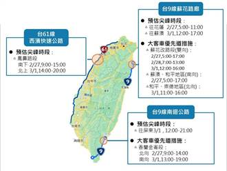 228連假出遊車潮 一張圖看清省道易塞路段時段