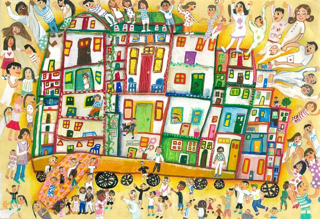 B組(8~11歲):陳潔兮同學作品「移動的城市」