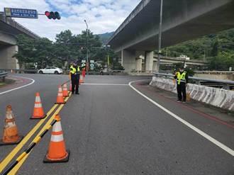 228連假交通疏導 石碇及坪林匝道南向入口封閉