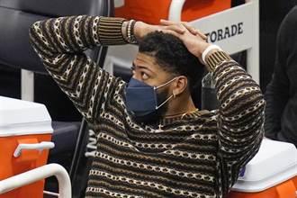 NBA》一眉哥傷後湖人6戰5敗 進攻變倒數第2