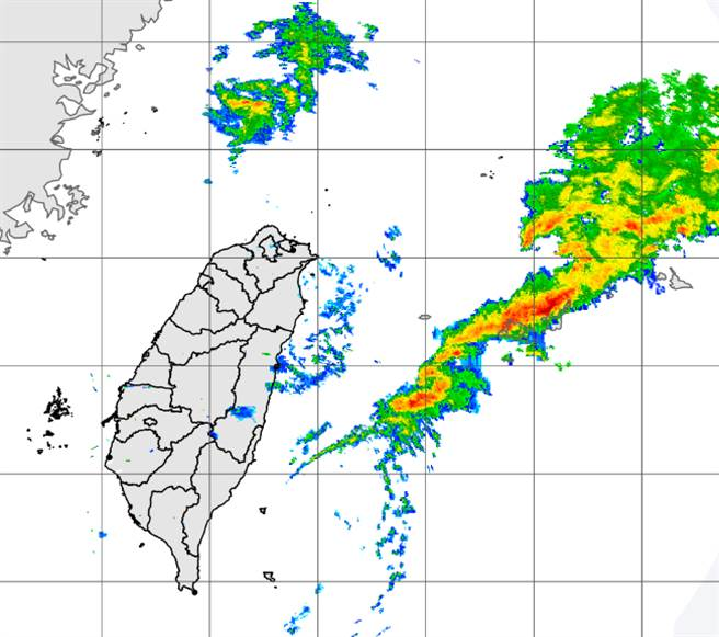 天氣即將轉變,鋒面過後東北季風增強,高溫陡降。(中央氣象局提供)