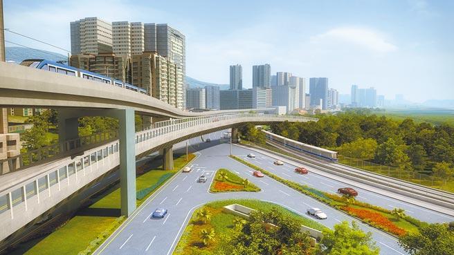 淡北道路可紓解淡水通往北市交通瓶頸,預計今年就可動工,2024年完工。(新北市工務局提供/葉德正新北傳真)