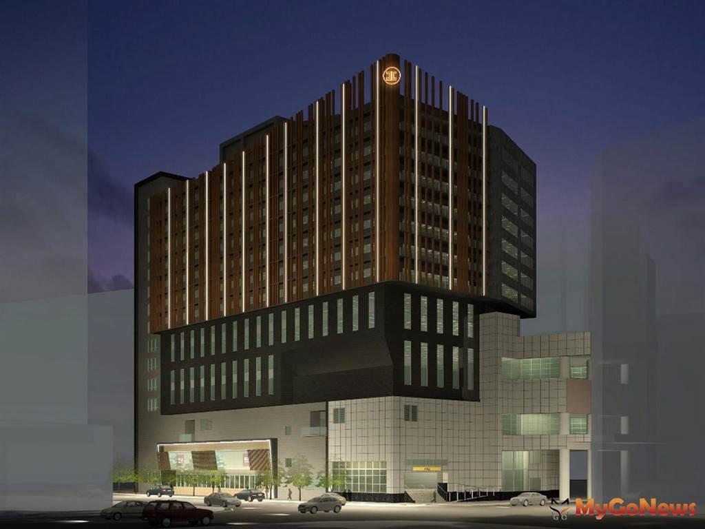 環狀線中和站土地開發共構大樓夜間模擬圖(圖/新北市政府)
