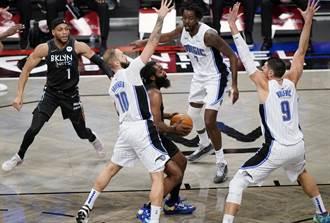 NBA》厄文哈登齊發威 籃網痛扁魔術8連勝