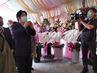 賴清德至崑濱伯靈堂上香 感念他的敬天愛人台灣精神