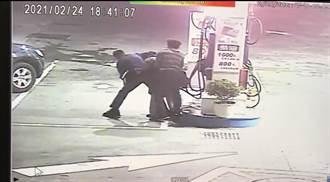 男企圖喝汽油尋短 警大外割壓制他救回一命