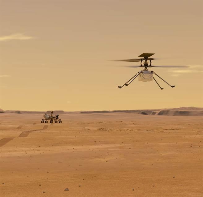 獨創號直升機,將是第1個在地球外飛行的旋翼機。(圖/NASA)