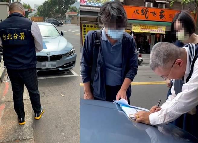 翁某在車輛被查封後,秒繳清積欠的綜合所得稅80餘萬元。(台北分署提供)