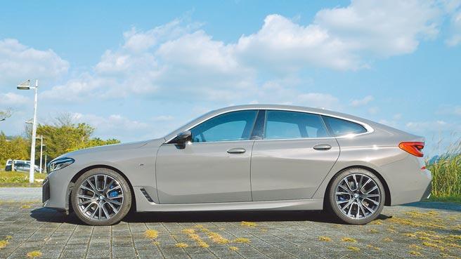 BMW 630i Gran Turismo M Sport正側面除了很肌理,鈑件線條更充分結合力與美。攝影/于模珉