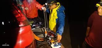 7人單攻郡大山 34歲女疑墜山只留拐杖 警消上山救援中