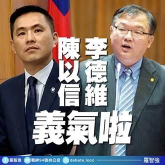 羅智強遭蔡適應揚言提告 陳以信、李德維發聲明力挺