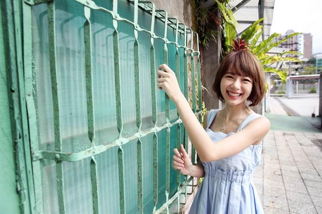 林明禎笑容甜美。(本報系資料照)