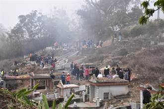 苗縣228掃墓人潮最高峰 2天43起火警 消防籲慎用火燭