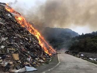 八里掩埋暫置區火警竄黑煙 環保局:感測數值正常