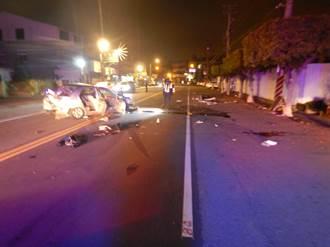 台中神岡凌晨死亡車禍 20歲男失控自撞路樹釀1死2傷