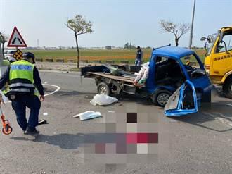 嘉義太保市2車相撞 車輛180度旋轉 駕駛噴飛倒臥血泊亡