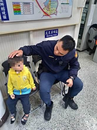 3歲幼童獨自迷路 海山警耐心安撫助返家