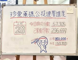 藻礁公投連署破法定門檻 負責人淚灑總部寫下最新數字
