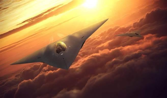 憂心政府決心不足,導致為北京超車,美空軍作戰司令部呼籲國會更多的撥款,以加速研發與部署時間。圖為洛克希德馬丁NGAD戰機概念圖。(圖/洛克希德馬丁)