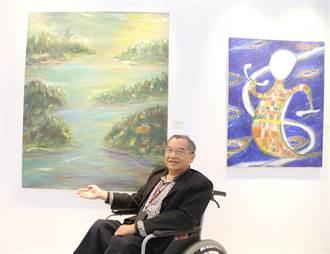 經歷車禍、癌症雙打擊 身障藝術家黃利安開畫展