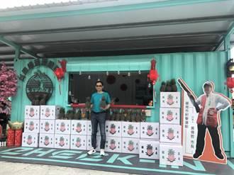 帶動全民挺農風氣 民進黨台南市黨部媒合企業認購1萬顆鳳梨