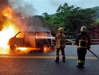 酒駕惹禍 蘇花公路車禍突變火燒車 雙向嚴重回堵