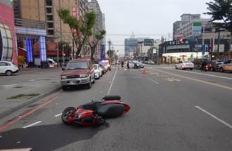 台中男違規穿越馬路 遭騎士撞飛