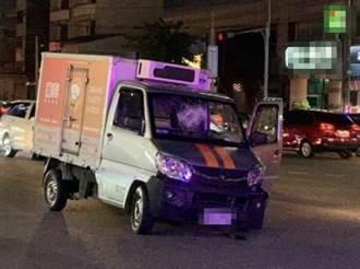 彰化街頭驚傳槍戰  失竊小貨車衝撞警車遭射爆輪胎活逮