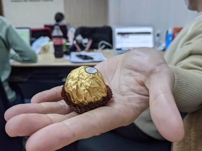 金莎巧克力明年起依法得改名。(陳人齊攝)