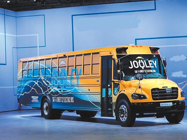為升電裝的北美校車重要合作夥伴,2月搶下美國電動校車大單,圖為電動校車。圖/為升提供