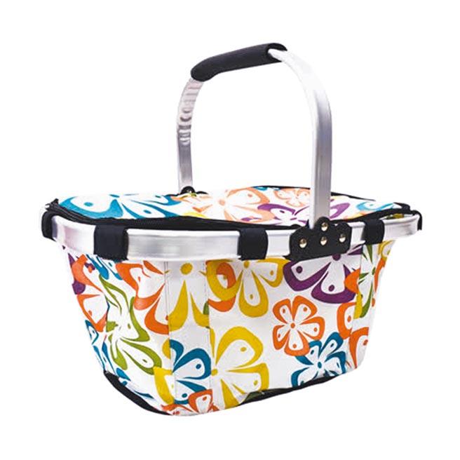 遠傳friDay購物的Tree Walker摺疊手提保溫野餐籃繽紛花色,原價699元,特價499元。(遠傳friDay購物提供)