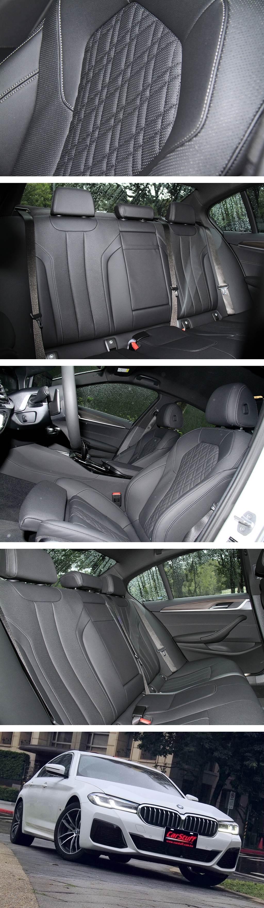 520i M Sport的首發版,贈送抬頭顯示器、Glare-free光形變化智慧型LED頭燈與遠光燈輔助配備,能順著行進道路的狀況自適應智能遮罩控制。框胎部分則是配置了M款18吋662 M型雙輻式Orbit Grey輕合金輪圈,同樣也是前後配:前輪8J,搭配 245/45 R18;後輪9J,搭配275/40 R18。