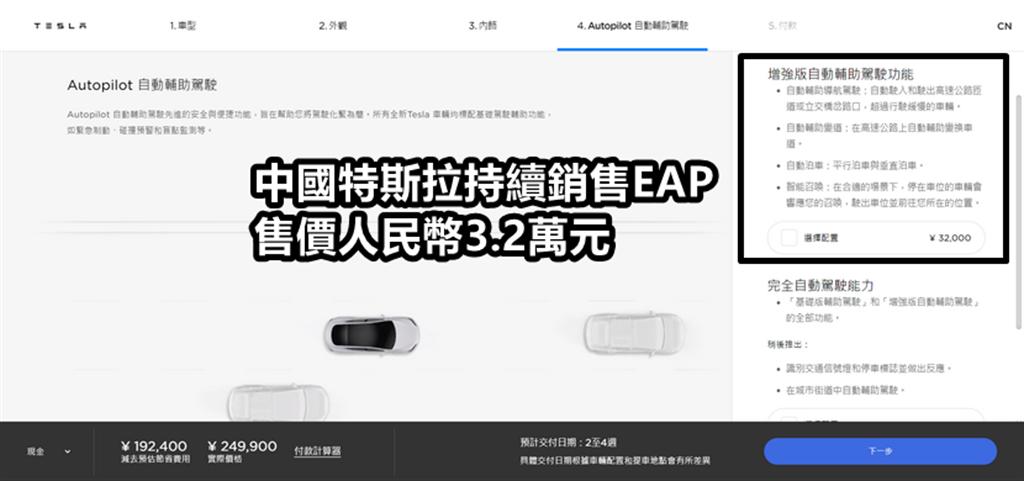 特斯拉在全球 28 國繼續銷售 EAP 增強型自動輔助駕駛,而台灣應該也要參一腳