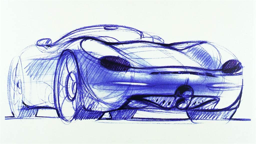 中置引擎概念、更短的車尾後懸、自前軸往前延伸的車頭設計是Boxster重要的設計元素。