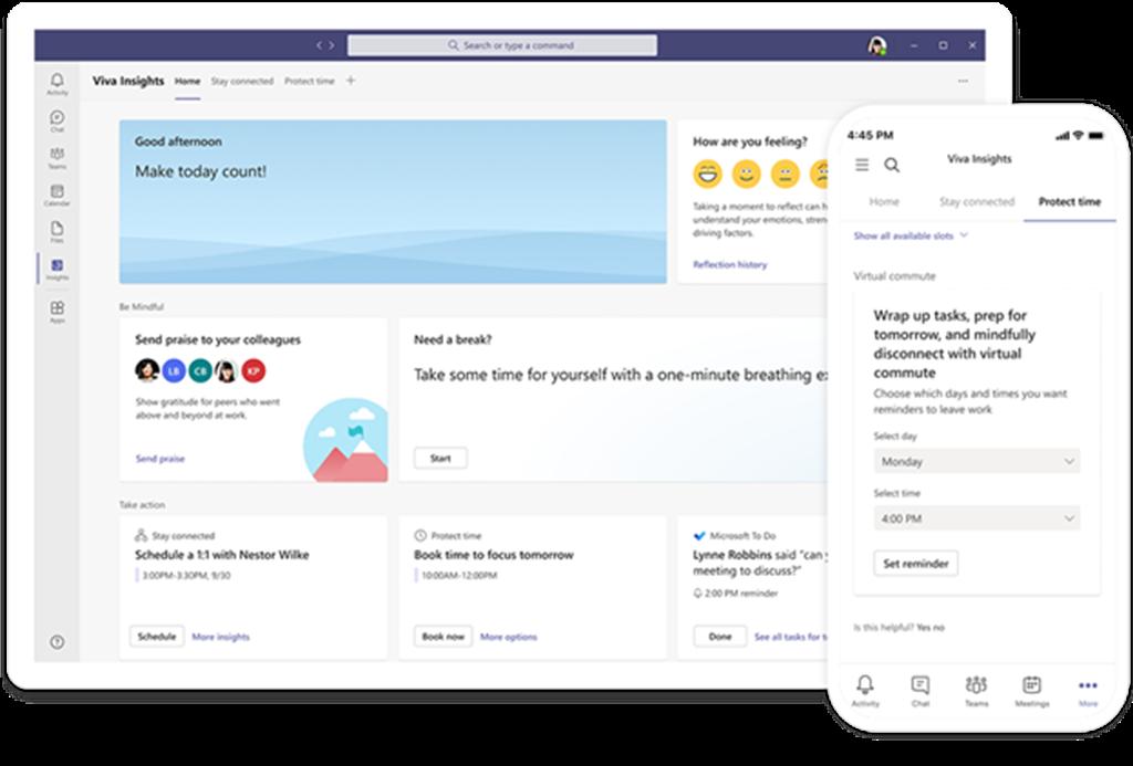 微軟在Ignite大會上宣布擴大新員工體驗平台Microsoft Viva。(微軟提供/黃慧雯台北傳真)