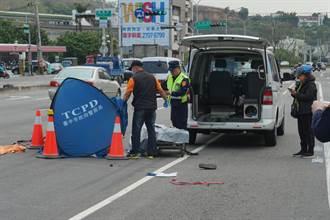 脚踏车老翁与大货车擦撞遭辗断双脚 当场无生命迹象