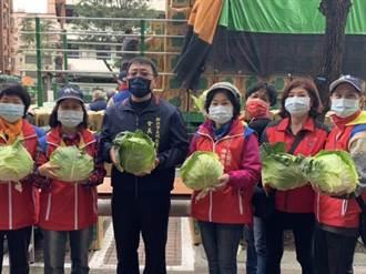 土城里長攜手在地企業 認購5萬公斤高麗菜挺菜農