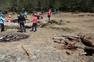 嘉明湖連假驚見5營火殘跡 恐引發火燒山