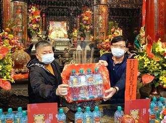 台鹽捐萬瓶飲用水給大甲鎮瀾宮 過爐庇佑傳遞平安