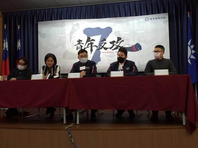 國民黨主席江啟臣表示今年度要推動「青年參政七號角計畫」,從國政到市政議題,納入年輕人的心聲,促進世代對話。(黃福其攝)