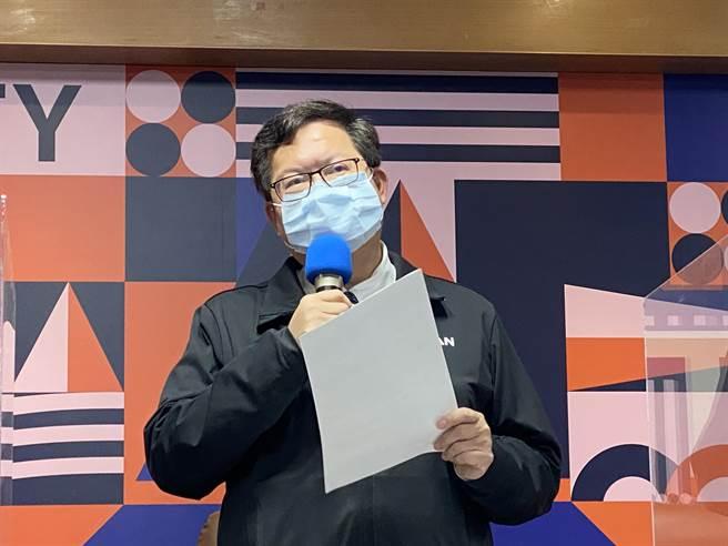 首批疫苗抵台,桃園市長鄭文燦相信桃園11家責任醫護會列為優先名單。(蔡依珍攝)