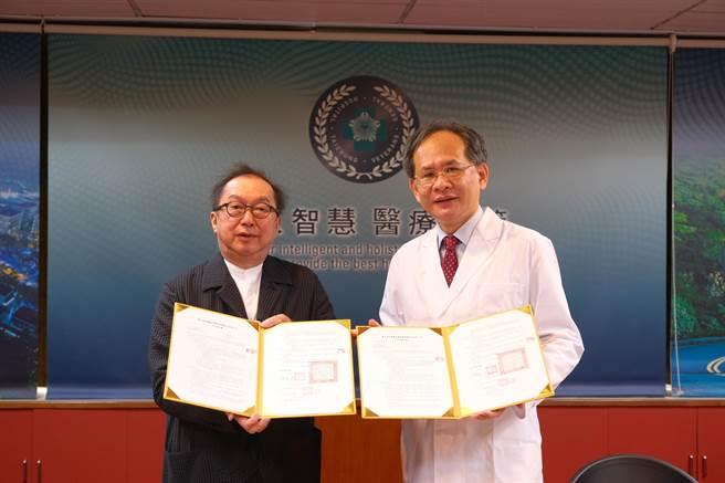 中榮廣達簽署合作備忘錄打造智慧化醫院。(台中榮總提供/張妍溱台中傳真)
