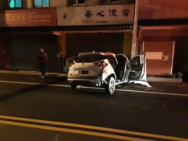 新竹彭姓檳榔西施酒駕,2日撞死一名工程師。(翻攝照片/莊旻靜新竹傳真)