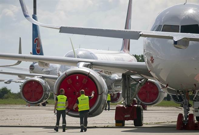 空巴最新客机油箱设计遭质疑存在安全风险。图与本文机型无关。(美联社资料照)